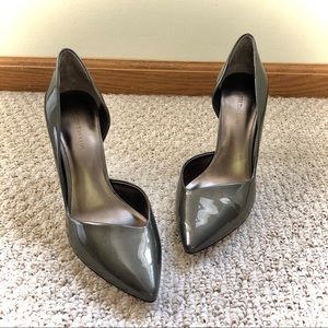 EUC - Ann Taylor - Taupe Leather Heels - 8.5M